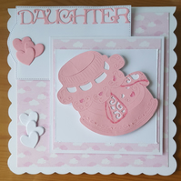 Gorgeous handmade baby girl card