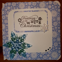 Handmade Quilled Snowflake Christmas Card