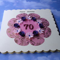 Quilled birthday card - ANY age