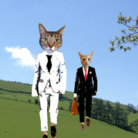 Reservoir Cats - custom cat portrait
