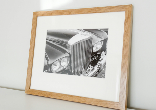 Classic Car Bentley Fine Art Photo in Hardwood Frame