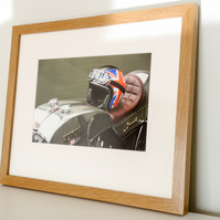 Classic British Bike Fine Art Photo in Hardwood Frame