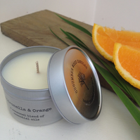 Citronella & Orange Soy Wax Candle - 90g