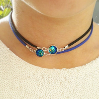 SALE mermaid choker scales choose colour necklace dragon scale gifts for her