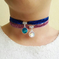 sale mermaid scales choker choose colour dragon scale necklace pink blue silver