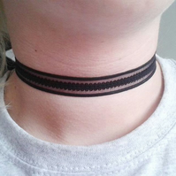 black choker necklace choker 18mm wide gifts for her jewellery lace choker