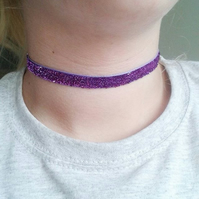 SALE purple velvet choker necklaces gifts for her valentines