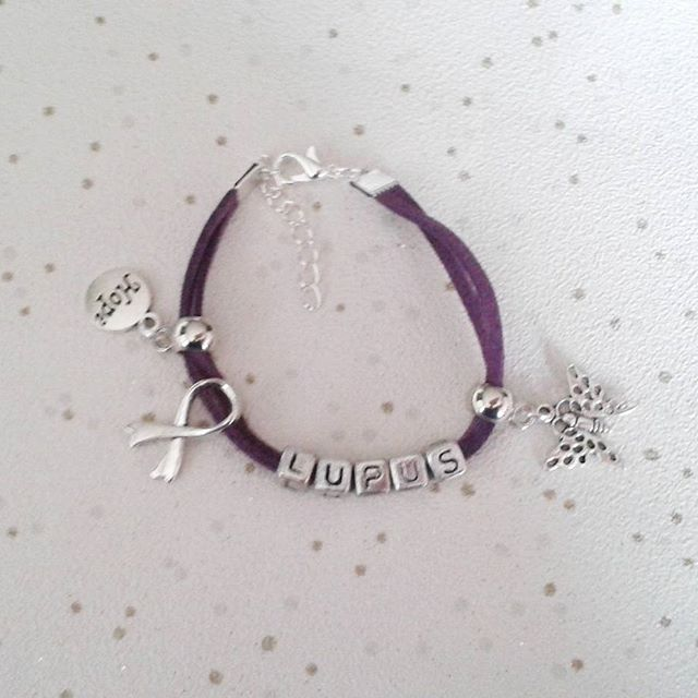 awareness bracelet bangle cord choose wording and colour fibro lupus eds spoonie
