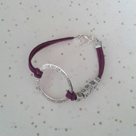 Awareness bracelet choose colour and word spoonie fibro lupus cfs diabetes