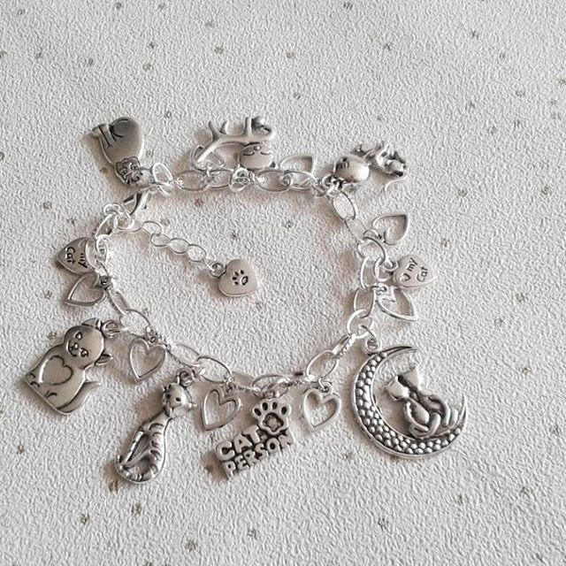 sale Cat charm bracelet cat person animal lover gifts for her cats