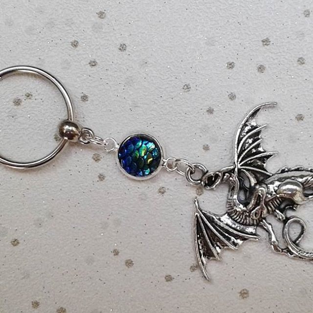 sale Dragon keyring dragons scales mermaid scales gifts for her