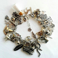 Fully loaded luxury Harry Potter inspired charm bracelet gifts jewellery