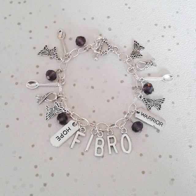 Awareness bracelet CHOOSE WORDS fibro fibromyalgia lupus cfs spoonie gifts hope