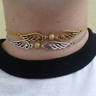 SALE Golden snitch choker choose gold silver necklace harry potter