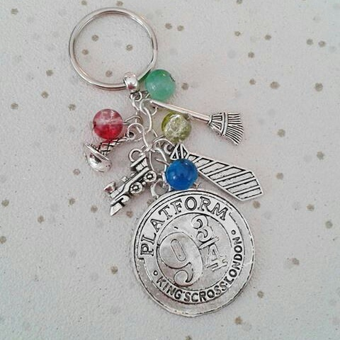 harry potter inspired charm keyring keychain bag charm