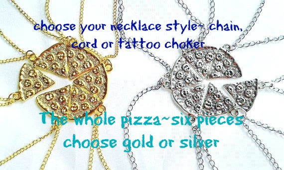 sale 6 x pieces pizza necklace kids party favors whole pizza gifts