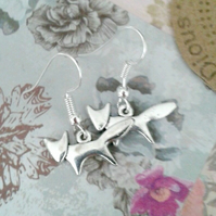silver fox earrings dangle wildlife foxes gofts for her