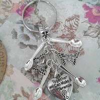 Together can can make a difference keyring bag charm awareness fibro lupus hope