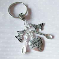 Awareness keyring SpoonTogether we can make a difference spoonie