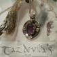 925 Silver Amethyst Gothic Style Pendant