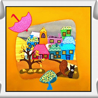 WALL HANGING - IN TOWN - AUTUMN