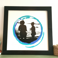 Limited Edition Screen Print - Ambra Beach - Blue
