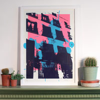 Limited Edition Screenprint - Piso - Pink