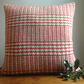 Red wool handwoven cushion