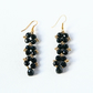 Black woven earrings