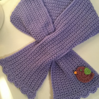 Beautiful children's scarf and mittens