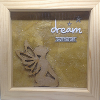 Dream - Love This Life - Kneeling Fairy - Picture Box Frame
