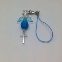 Christmas,Birthday,Baby Shower,Baptism,Angel Lover Beaded Angel Charm with Cross