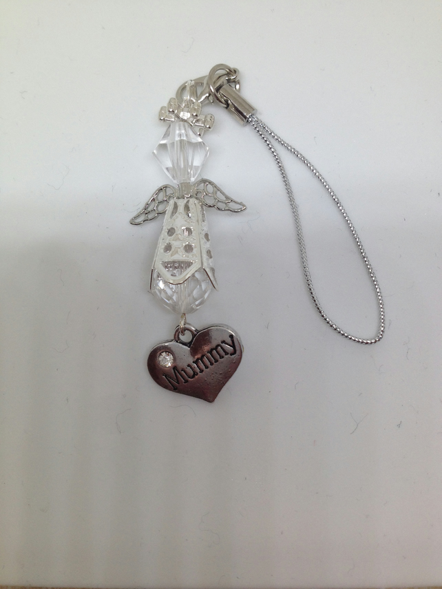 Christmas,Birthday,Baby Shower,Baptism,Angel Lover Beaded Angel Mummy charm