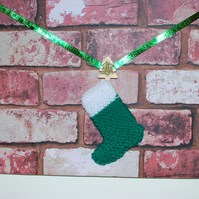 Red Brick Chimney Breast Christmas Stocking