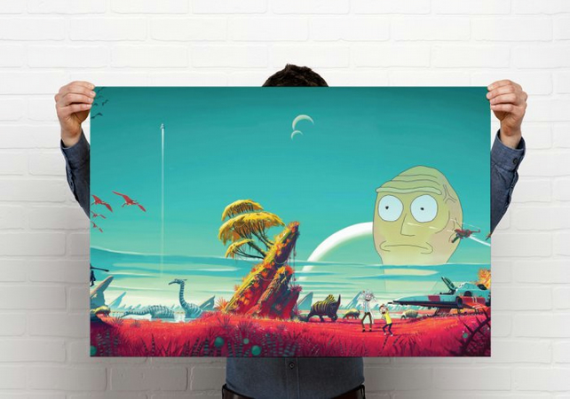 Rick and Morty Print , Poster A2 size 16.5 x 23.4