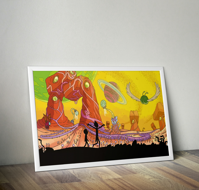 Rick and Morty Print , Poster A4 size 8.3 x 11.7