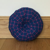 Purple & Pink Tartan Patchwork Pouffe Cushion
