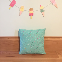 Mint Green Confetti Zip Cushion