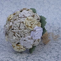 Shades of Ivory Handmade Paper Bouquet