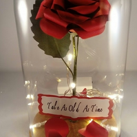 Beauty and the Beast Inspired Red Rose