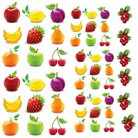 Fruits Nail Decals