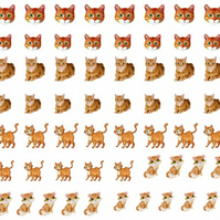 Ginger Cat Nail Decals