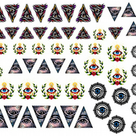 Illuminati Nail Decals