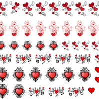 Hearts  Nail Decals