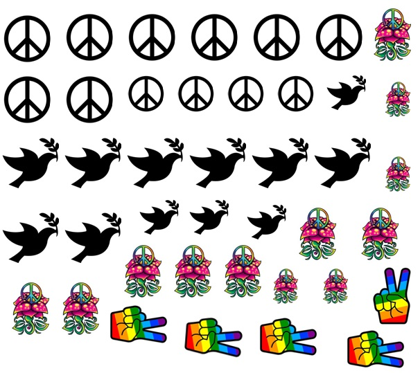 Peace  Nail Decals