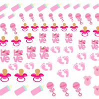 Baby Girl  Nail Decals