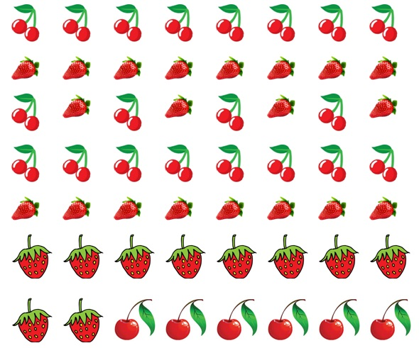 Cherry And Strawberry Nail Decals