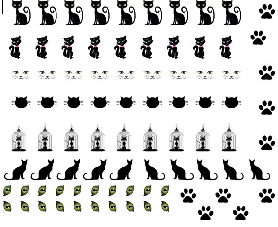 Cat COde 1 Nail Decals