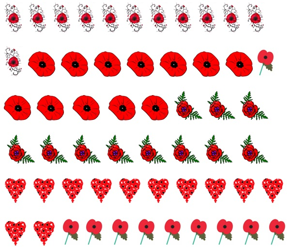 Poppy Code 1 Nail Decals