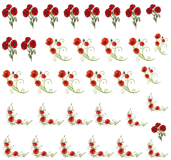 Poppy Code 3  Nail Decals
